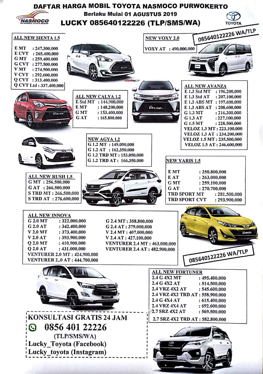 Harga Toyota By Lucky