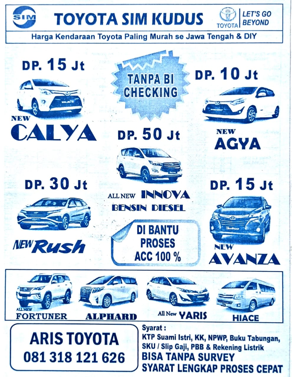 Promo Toyota By Aris
